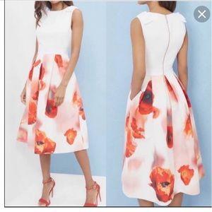 Ted Baker poppy bow skirt dress.